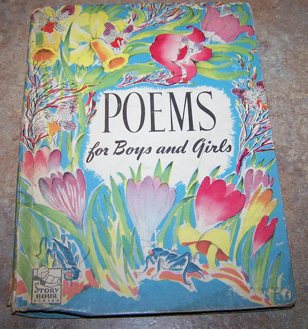 "H.C. Book "" Poems  for Boys and Girls"" Complied By M. Barrows C. 1945"