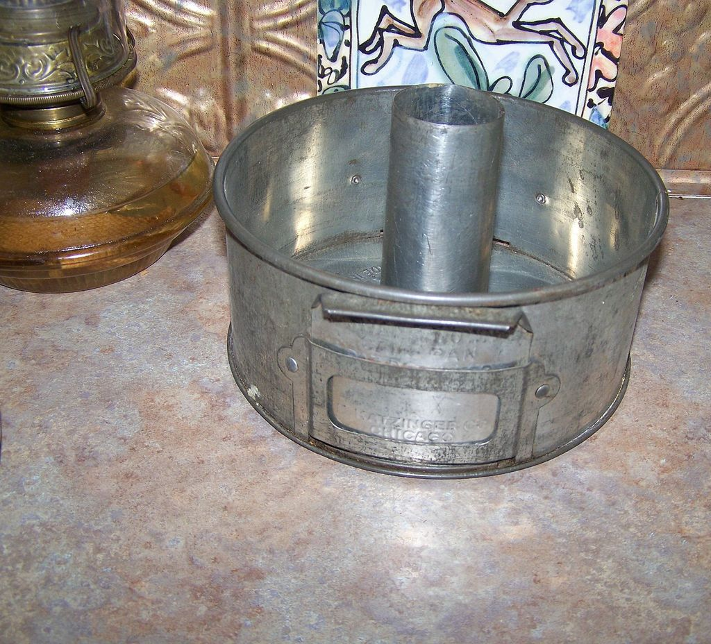 Vintage  Swan's Down Flour  Advertising Tube Cake Pan Katzinger's