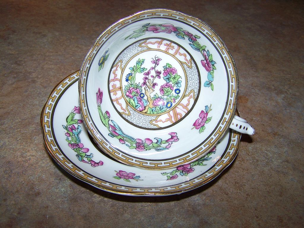 Royal Paragon Fine Bone China Tea Cup & Saucer Floral Motif