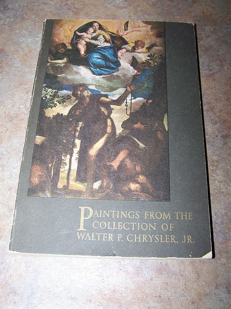 "S.C. Book ""Paintings From The Collection Of Walter Chrysler , JR.  C.1956"