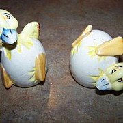 Cracked Eggs Hatched Chicks Salt & Pepper Shakers