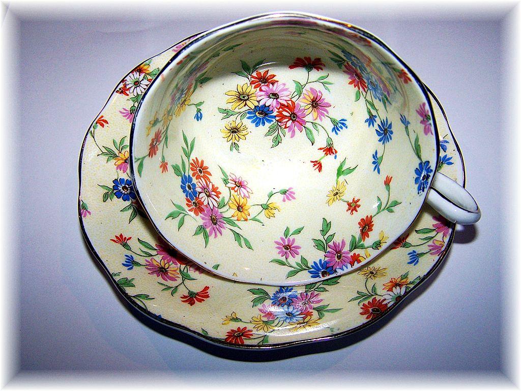 Chintz Tea Cup & Saucer Royal Albert Crown China England