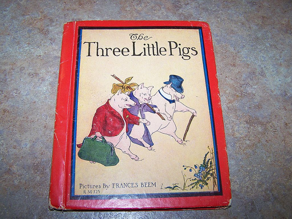 A Collectible  The Three Little Pigs  Book Pictures By Frances Beem Rand McNally C. 1934