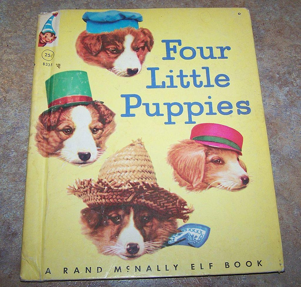 Four Little Puppies Photographs  by Harry Whittier Frees Rand McNally Book