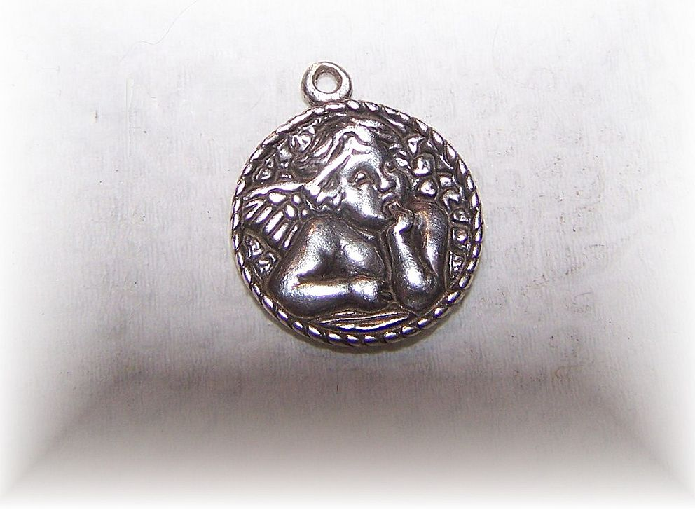 Small Vintage C. Sydney Smith Sterling Silver Putti Angel Charm