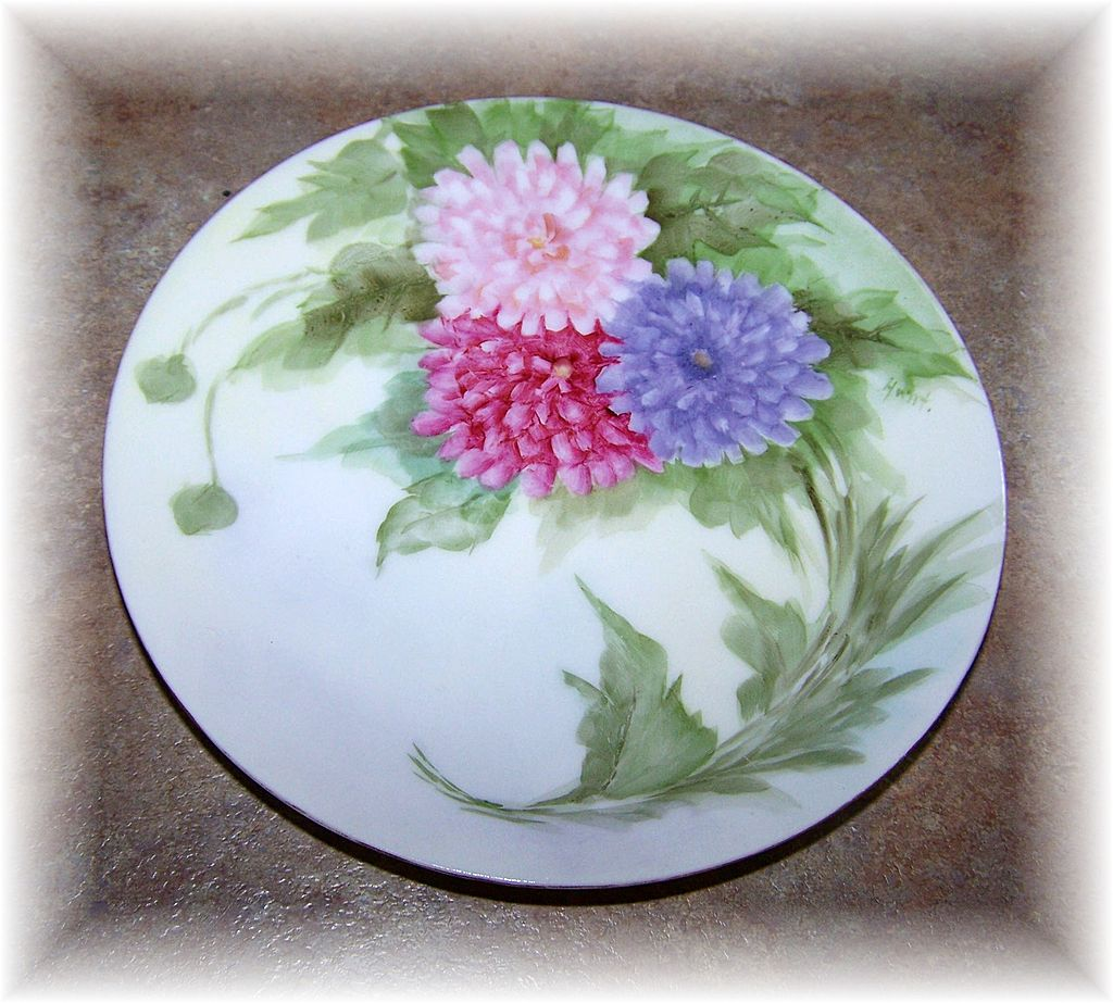 Lovely Quality Hand Painted Plate Floral Motif Favorite Bavaria