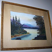 Vintage Framed  Scenic Water Color Painting Don M Dougall