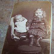 Vintage CDV Photograph Charming Children