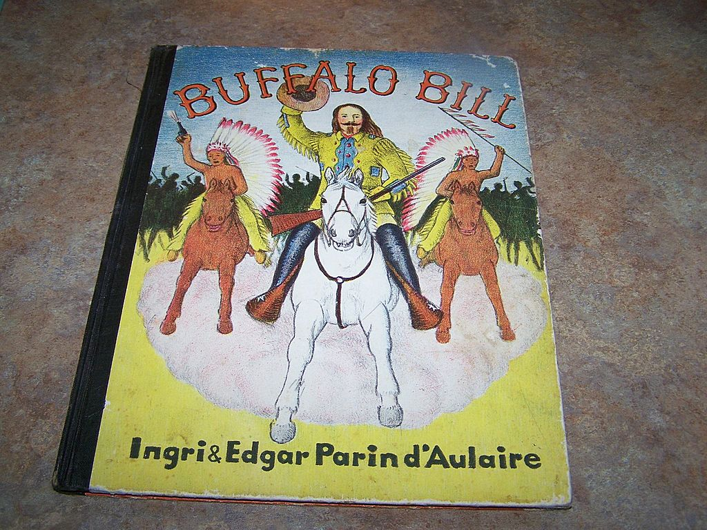 "Vintage Book Titled "" Buffalo Bill"" C. 1952 Lithographed U.S.A."