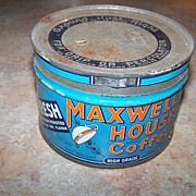A Collectible Vintage Advertising Maxwell House Coffee Can Tin Canada Canadiana Montreal