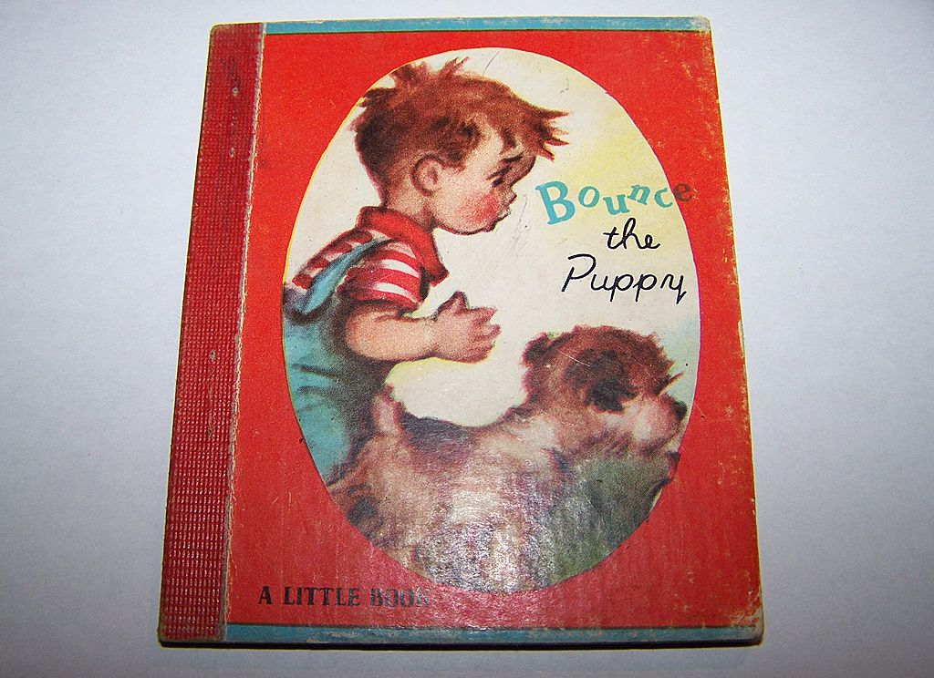 "Tiny Little Children's book "" Bounce The Puppy"" C.1948"