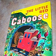 "Over Sized Golden Book "" The Little Red Caboose "" C.1978"