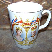 Sampson and Smith Silver Jubilee Royalty Mug 1935 Queen Mary King George V As IS
