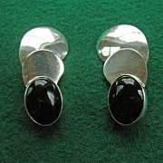 Marvelous Sterling & Onyx Earrings