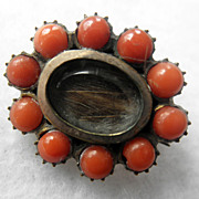 Antique Georgian Coral Fichu Pin/Brooch