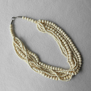 Multi Strand Carved Bone Necklace