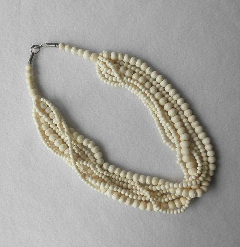 Multi Strand Carved Bone Necklace