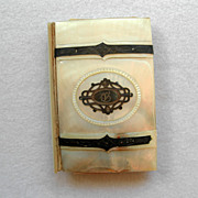 19TH C Dance Card or Calling Card Case MOP & Silver