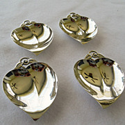 Four Tiffany Sterling Nut or Mint Dishes