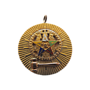 Eastern Star 14K Pin/Pendant Charm