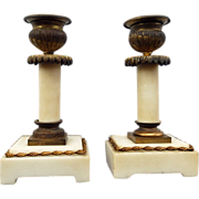 Wonderful Pair Empire Candlesticks