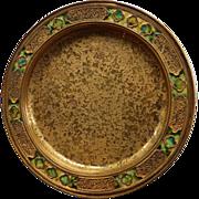 Tiffany Furnaces Favrile Bronze Dore Tray or Plate
