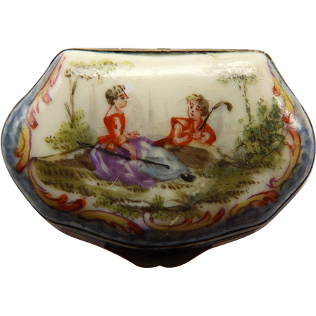 19th Century French Porcelain Miniature Box