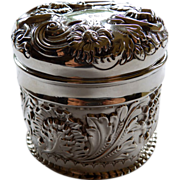 Antique English Sterling Dresser Jar