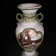 Gorgeous Satsuma and Enamel Work Vase