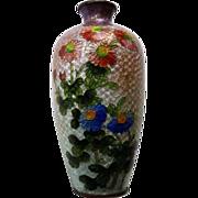 Signed Japanese Cloisonne Ginbari Vase - Kumeno Teitaro