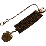 Victorian Gold Filled Hair Fob
