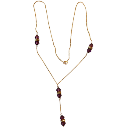 14 Karat Necklace With Crystals