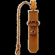 Victorian G. F. Watch Fob & Chain