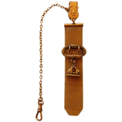 Victorian G. F. Watch Fob & Chain