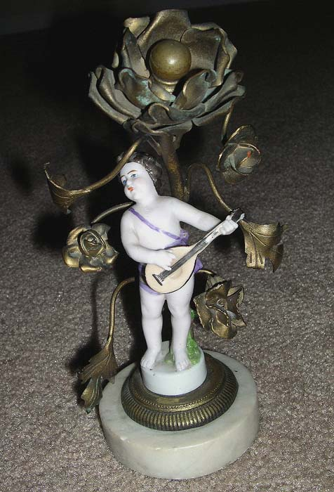 Antique European German Porcelain  /  Lamp Base