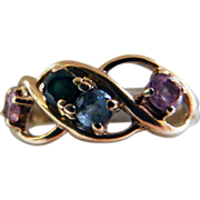 10K Yellow Gold Multi Stone Ring