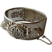 Vintage Sterling Middle Eastern Bangle Bracelet