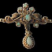 Vintage 14K  & Opal Pendant/Brooch