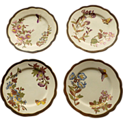 Set of Four Antique Royal Worcester Plates Dated 1887