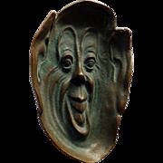 Art Nouveau Bronze Dish With Face