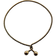 10 Karat Yellow Gold Twist Rope Bracelet