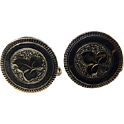 10 Karat Yellow Gold Victorian Earrings With Screw Backs