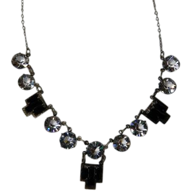 Art Deco Czech Crystal Necklace