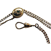 Edwardian 14K Ladies Watch Chain & Slide