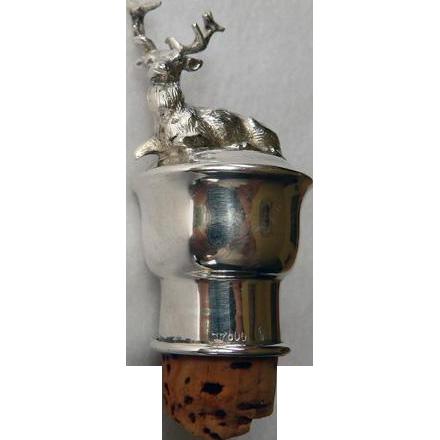 800 Silver Figural Cork Stag