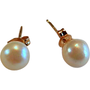 14k 4mm Cultured Pearl Stud Earrings