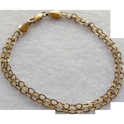 Vintage 14K Chain Link Bracelet