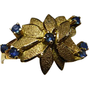 Vintage 18K YG & Sapphire Ring