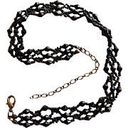 Victorian Jet Choker Style Necklace