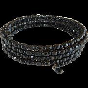 Victorian Jet Coiled Bracelet